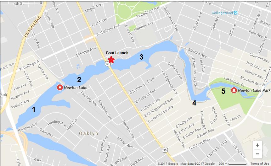 Newton Creek Map | South Jersey Kayaking on